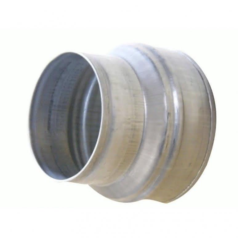 Reduzierstück / Verjüngung 125 auf 100mm - Stahlblech feuerverzinkt