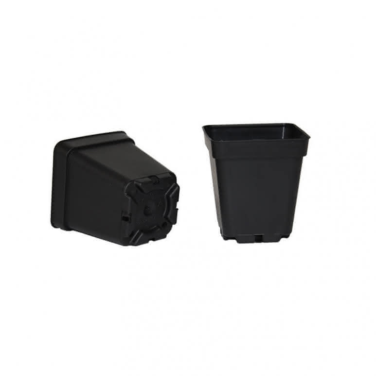 Topf / Pflanzcontainer 7x7x8cm eckig - 0,35 Liter