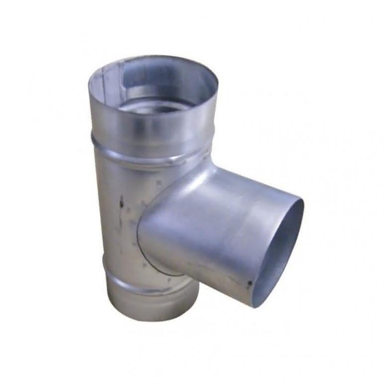 T-Stück Metall 90-Grad - Stahlblech feuerverzinkt
