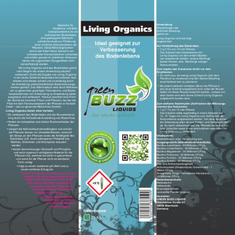 Green Buzz Liquids GBL Living Organics 200 Gramm Beutel - Trichoderma