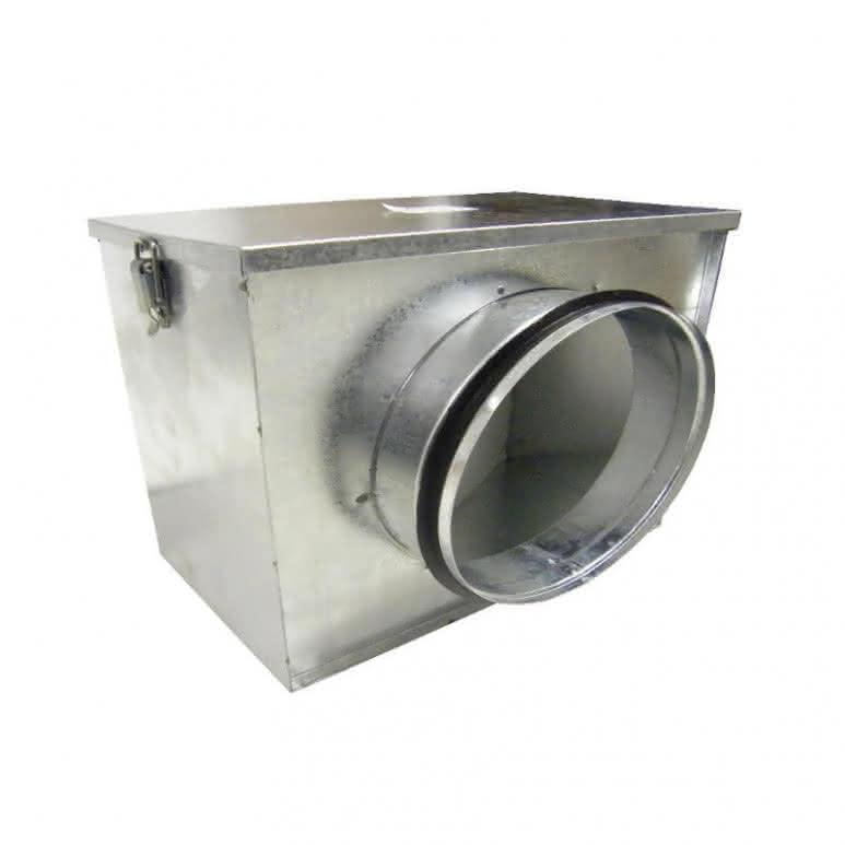 Luftfilterbox mit 2x 100mm Anschluss - inklusive Grobstaubfilter