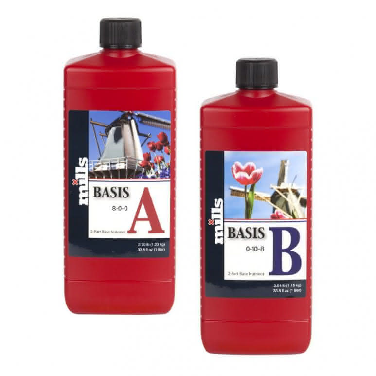 Mills Nutrients Basis A+B High Concentrated je 1 Liter - Basisdünger
