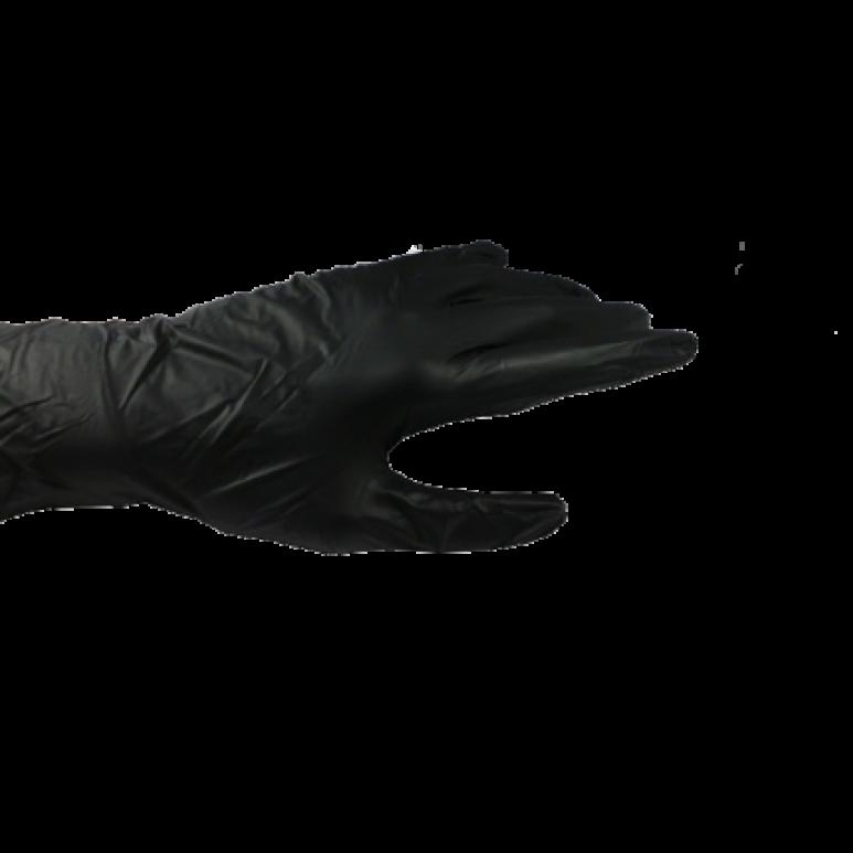 Nitril-Einweghandschuhe Typ 40 - schwarz - puderfrei