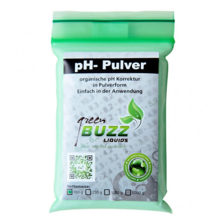 Green Buzz Liquids GBL pH Minus Pulver 100g - pH-Regulator