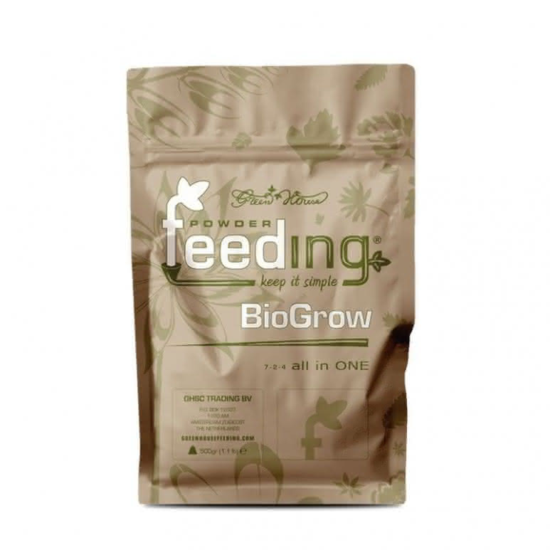 Greenhouse Powder-Feeding BioGrow 500g - Wachstumsdünger biologisch