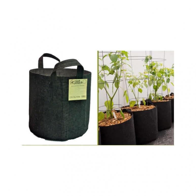 Root Pouch Pflanzentopf schwarz mit Griffen - 8 Liter