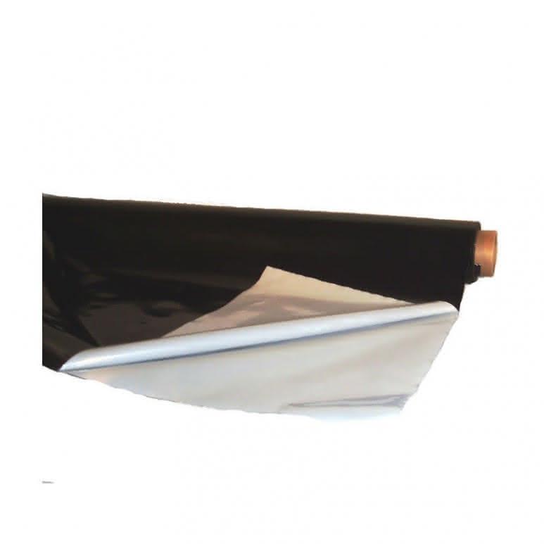 Schwarz Weiss Folie 2m breit lfm.