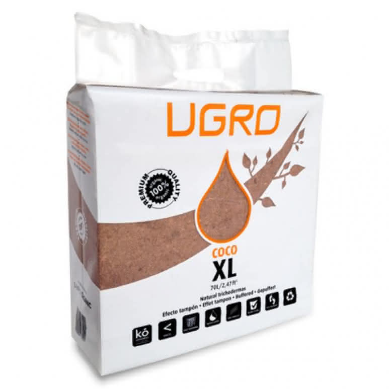 UGro XL Kokossubstrat 70 Liter - gepresstes Substrat