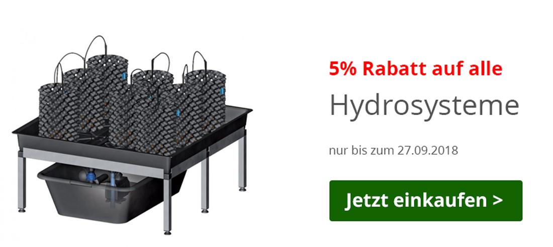 5 % auf Hydrosysteme